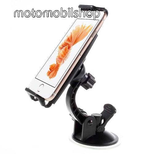 MOTOROLA Moto G 4G (2015) UNIVERZÁLIS gépkocsi / autós tartó - tapadó korongos / szélvédőre helyezhető, 360°-ban forgatható, 110 - 160 mm-ig állítható bölcsővel