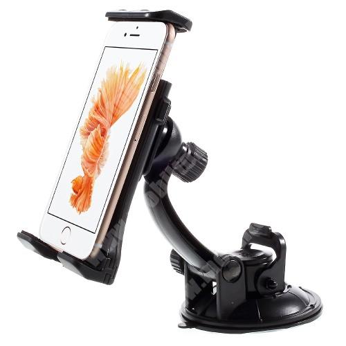APPLE iPhone X UNIVERZÁLIS gépkocsi / autós tartó - tapadó korongos / szélvédőre helyezhető, 360°-ban forgatható, 110 - 180 mm-ig állítható bölcsővel