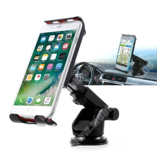 HTC Desire 825 UNIVERZÁLIS gépkocsi / autós tartó - tapadó korongos / szélvédőre helyezhető, 360°-ban forgatható, 115 - 200 mm-ig állítható bölcsővel