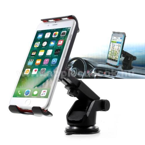 APPLE iPhone XSUNIVERZÁLIS gépkocsi / autós tartó - tapadó korongos / szélvédőre helyezhető, 360°-ban forgatható, 115 - 200 mm-ig állítható bölcsővel
