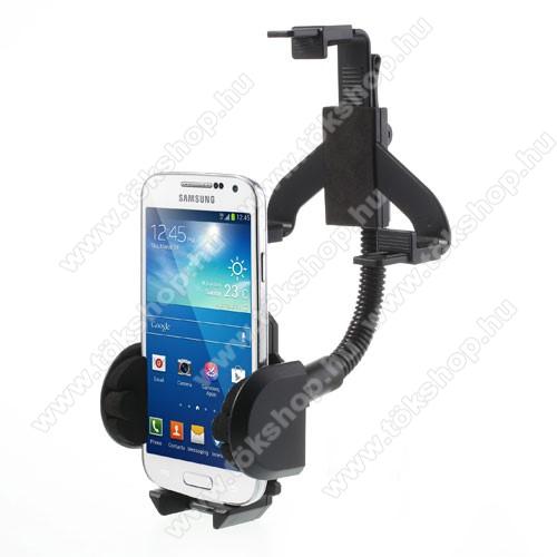 Elephone S3 LiteUNIVERZÁLIS gépkocsi / autós tartó - visszapillantóra tehető - FEKETE - 40-100 mm-ig állítható bölcsővel