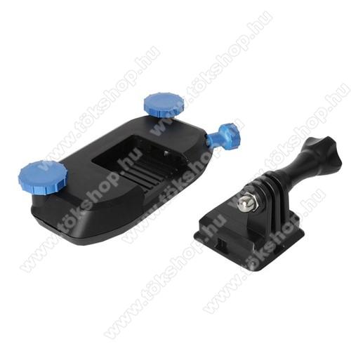 UNIVERZÁLIS hátizsákra rögzíthető állvány - gyorskioldó, dönthető, GoPro Hero 8/7/6/5/4/ DJI Osmo Action / Yi 4K / SJCAM - FEKETE