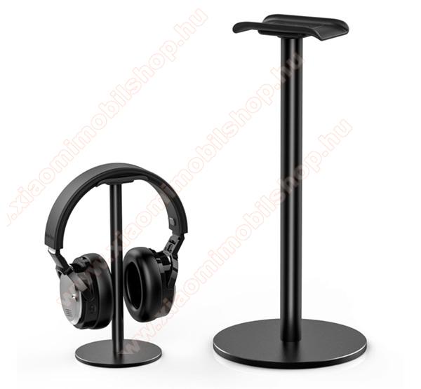 UNIVERZÁLIS Headstand fejhallgató állvány / asztali tartó - FEKETE