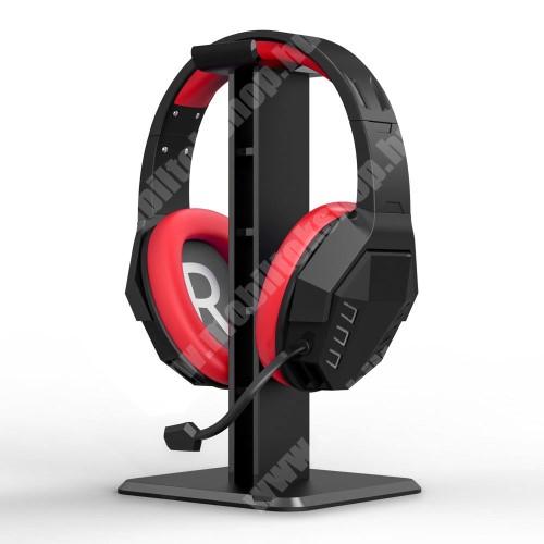 ALCATEL A30 UNIVERZÁLIS Headstand fejhallgató állvány / asztali tartó - 24,5 cm magas, ABS műanyag, 245 x 100 x 100 cm  mm - FEKETE