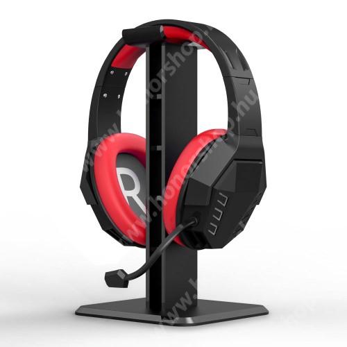 HUAWEI Honor V40 5G UNIVERZÁLIS Headstand fejhallgató állvány / asztali tartó - 24,5 cm magas, ABS műanyag, 245 x 100 x 100 cm  mm - FEKETE