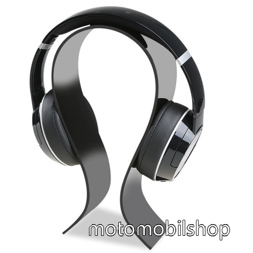 UNIVERZÁLIS Headstand fejhallgató állvány / asztali tartó - FEKETE - 220 x 125 x 60mm