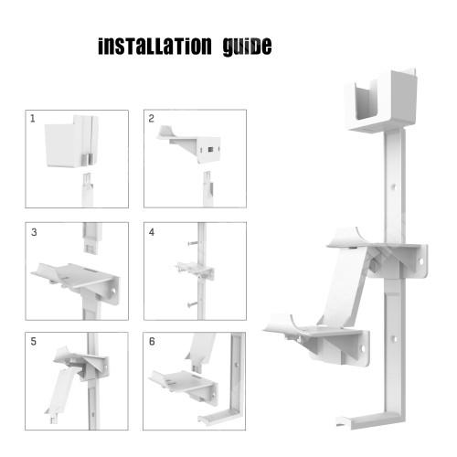 PRESTIGIO MultiPad 8.0 PRO DUO UNIVERZÁLIS Headstand fejhallgató / Joystick tartó állvány / fali tartó - falra szerelhető, PS5, PS4, PS3, Xbox Series X, Xbox One, Nintendo Switch, távirányító tartó, 21 x 4 x 10 cm - FEHÉR