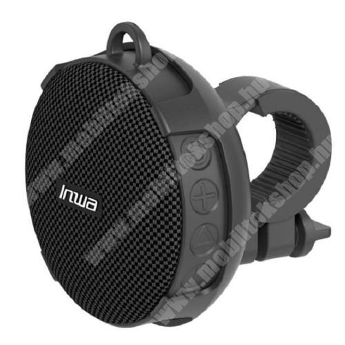 HomTom HT20 Pro UNIVERZÁLIS hordozható bluetooth hangszóró - V5.0, bicikli kormányra rögzíthető, 10óra zenehallgatási idő, TF kártyaolvasó, 5W, 750mAh beépített akkumulátor, STRAPABÍRÓ KIALAKÍTÁS!, IPX7 szabvány szerinti vízállóság - FEKETE