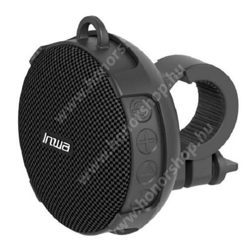 HUAWEI Honor V40 5G UNIVERZÁLIS hordozható bluetooth hangszóró - V5.0, bicikli kormányra rögzíthető, 10óra zenehallgatási idő, TF kártyaolvasó, 5W, 750mAh beépített akkumulátor, STRAPABÍRÓ KIALAKÍTÁS!, IPX7 szabvány szerinti vízállóság - FEKETE
