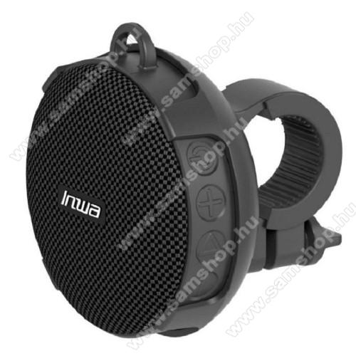 UNIVERZÁLIS hordozható bluetooth hangszóró - V5.0, bicikli kormányra rögzíthető, 10óra zenehallgatási idő, TF kártyaolvasó, 5W, 750mAh beépített akkumulátor, STRAPABÍRÓ KIALAKÍTÁS!, IPX7 szabvány szerinti vízállóság - FEKETE