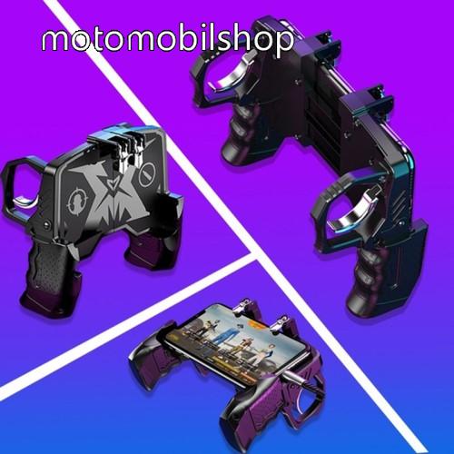MOTOROLA U6 UNIVERZÁLIS K21 Kontroller / Joystick - ravasz FPS játékokhoz, gamepad, PUBG-hez ajánlott, max 84mm széles és max 165mm magas készülékekig használható - FEKETE