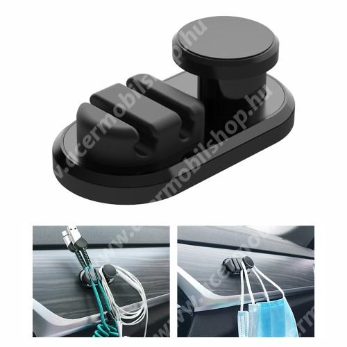 ACER Liquid Z3 UNIVERZÁLIS Kábel szervező, kötegelő, kulcstartó, 1db-os, öntapadós - FEKETE