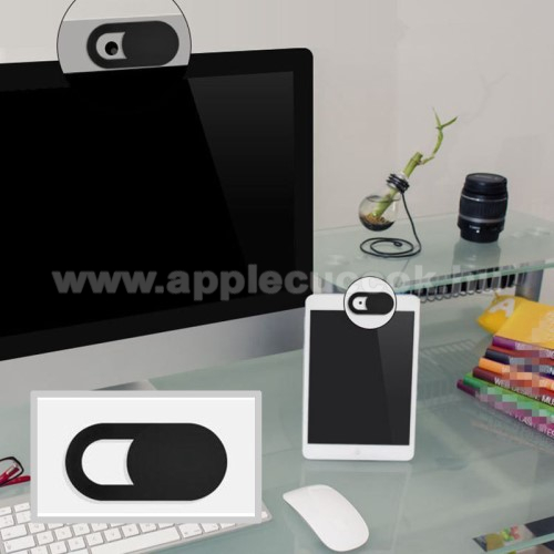 APPLE iPhone 6UNIVERZÁLIS kameratakaró - 0.7mm vastagság, nem gátolja a laptop lecsukását, teljes adatvédelem és biztonság - FEKETE