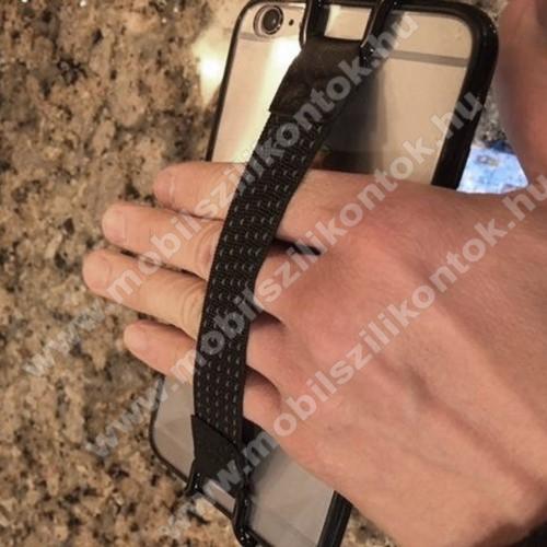 NOKIA 5.1 Plus (2018)UNIVERZÁLIS kézpánt - Biztos fogás készülékéhez, 130 x 20mm - FEKETE