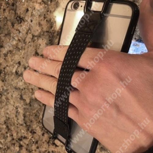 HUAWEI P20 Lite (2018) UNIVERZÁLIS kézpánt - Biztos fogás készülékéhez, 130 x 20mm - FEKETE