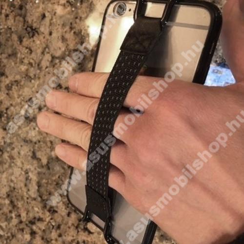 ASUS Zenfone Max Pro (M2) (ZB631KL)UNIVERZÁLIS kézpánt - Biztos fogás készülékéhez, 130 x 20mm - FEKETE
