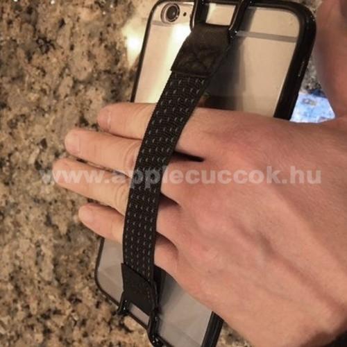 APPLE iPhone 6 PlusUNIVERZÁLIS kézpánt - Biztos fogás készülékéhez, 130 x 20mm - FEKETE