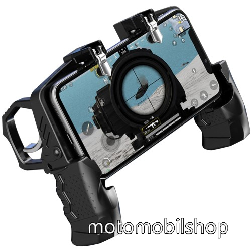 """MOTOROLA MPX200 UNIVERZÁLIS Kontroller / Joystick - ravasz FPS játékokhoz, gamepad, PUBG-hez ajánlott, 4.7-6.5""""-os méretig kompatibilis okostelefonokkal - FEKETE"""