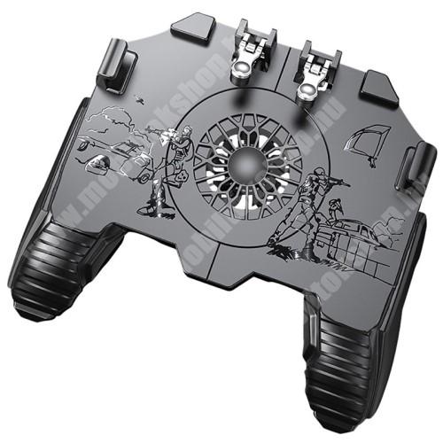 """PHILIPS W8510 UNIVERZÁLIS Kontroller / Joystick - ravasz FPS játékokhoz, gamepad, beépített hűtőventilátor, beépített 500mAh akkumulátor, 6.5""""-os méretig kompatibilis okostelefonokkal - FEKETE"""