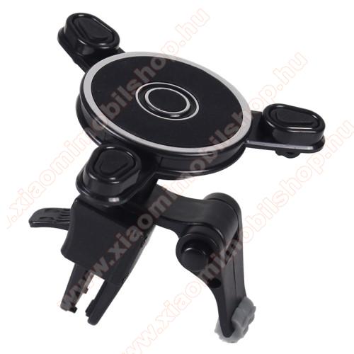 UNIVERZÁLIS Magnetic autós / gépkocsi tartó - mágneses, szellőzőrácsra rögzíthető - FEKETE