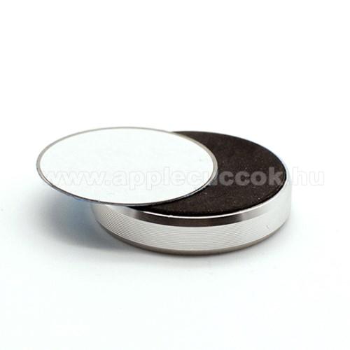 APPLE iPhone XUNIVERZÁLIS Mini mágneses autós / gépkocsi tartó - mágneses, műszerfalra rögzíthető - EZÜST