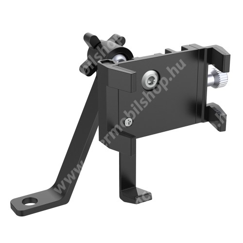 ACER Liquid Z3 UNIVERZÁLIS motoros / biciklis tartó konzol mobiltelefon készülékekhez - alumínium, 360°-ban forgatható, 70-100mm-ig állítható bölcső - FEKETE