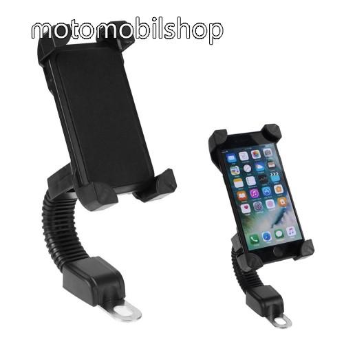 MOTOROLA Q9 UNIVERZÁLIS motoros telefon tartó - 360°-ban forgatható, minimum 123mm x 63mm, maximum 180mm x 90mm-ig állítható bölcsővel - FEKETE