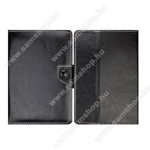 SAMSUNG P6800 Galaxy Tab 7.7UNIVERZÁLIS notesz / mappa tablet PC tok - FEKETE - álló, bőr, mágneses, asztali tartó funkciós, 8