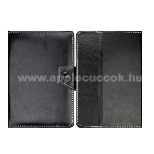 APPLE iPad miniUNIVERZÁLIS notesz / mappa tablet PC tok - FEKETE - álló, bőr, mágneses, asztali tartó funkciós, 8