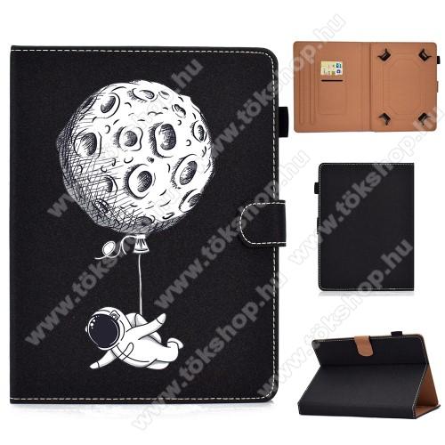 UNIVERZÁLIS notesz / mappa tablet PC tok - ŰRHAJÓS MINTÁS - álló, bőr, mágneses, bankkártyatartó zsebek, ceruzatartó, asztali tartó funkciós, 7