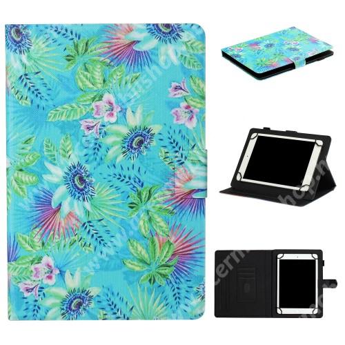 """ACER Iconia Tab A1-811 UNIVERZÁLIS notesz / mappa tablet PC tok - VIRÁG MINTÁS - álló, bőr, mágneses, asztali tartó funkciós, 8"""" készülékekhez - Belső méret: 220 x 165 x 20mm"""