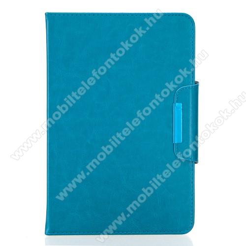 UNIVERZÁLIS notesz / mappa tablet PC tok - VILÁGOSKÉK - álló, bőr, rejtett mágneses záródás, bankkártyatartó zsebek, asztali tartó funkciós, ceruzatartó, 10-12