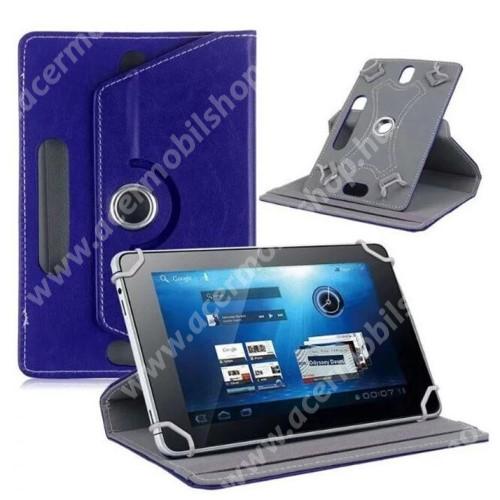 """ACER Chromebook Tab 10 UNIVERZÁLIS notesz / mappa tok - álló, oldalra nyíló, asztali tartó funkcióval, 360°-ban elforgatható - SÖTÉTKÉK - 9-10"""" méretű készülékekhez, 24-26cm x 16-17,5cm-ig"""
