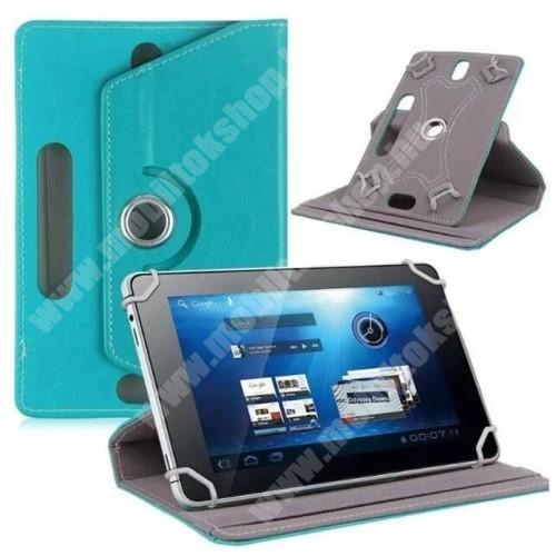 """Lenovo Moto Tab UNIVERZÁLIS notesz / mappa tok - álló, oldalra nyíló, asztali tartó funkcióval, 360°-ban elforgatható - VILÁGOSKÉK - 9-10"""" méretű készülékekhez, 24-26cm x 16-17,5cm-ig"""
