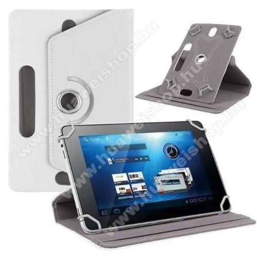 HUAWEI MediaPad M3 Lite 10UNIVERZÁLIS notesz / mappa tok - álló, oldalra nyíló, asztali tartó funkcióval, 360°-ban elforgatható - FEHÉR - 9-10