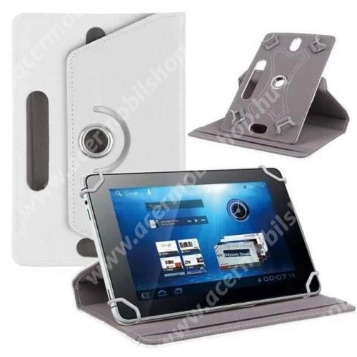 """ACER Iconia Tab A700 UNIVERZÁLIS notesz / mappa tok - álló, oldalra nyíló, asztali tartó funkcióval, 360°-ban elforgatható - FEHÉR - 9-10"""" méretű készülékekhez, 24-26cm x 16-17,5cm-ig"""