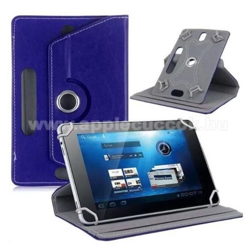 APPLE iPad mini 3UNIVERZÁLIS notesz / mappa tok - álló, oldalra nyíló, asztali tartó funkcióval, 360°-ban elforgatható - SÖTÉTKÉK - 8-9