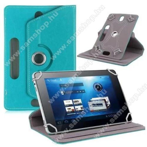 SAMSUNG P6800 Galaxy Tab 7.7UNIVERZÁLIS notesz / mappa tok - álló, oldalra nyíló, asztali tartó funkcióval, 360°-ban elforgatható - VILÁGOSKÉK - 8-9