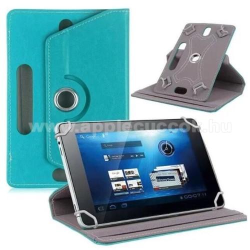 APPLE iPad mini 3UNIVERZÁLIS notesz / mappa tok - álló, oldalra nyíló, asztali tartó funkcióval, 360°-ban elforgatható - VILÁGOSKÉK - 8-9