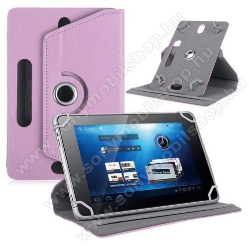 SONY Xperia Z3 Tablet Compact (SGP621)UNIVERZÁLIS notesz / mappa tok - álló, oldalra nyíló, asztali tartó funkcióval, 360°-ban elforgatható - RÓZSASZÍN - 8-9