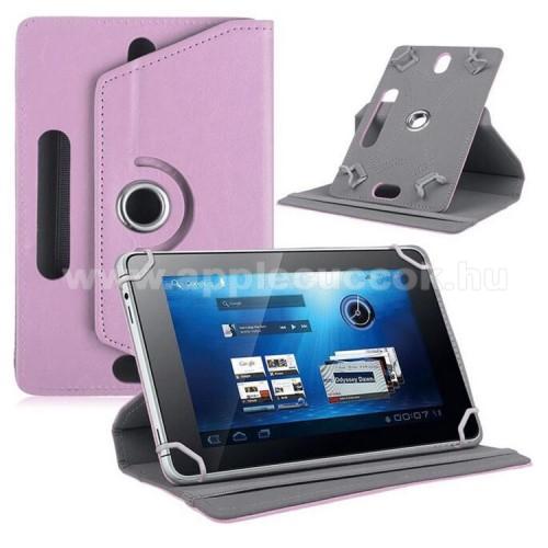 APPLE iPad mini 3UNIVERZÁLIS notesz / mappa tok - álló, oldalra nyíló, asztali tartó funkcióval, 360°-ban elforgatható - RÓZSASZÍN - 8-9