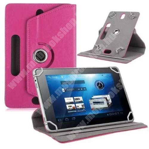 """SAMSUNG GT-N5100 Galaxy Note 8.0 UNIVERZÁLIS notesz / mappa tok - álló, oldalra nyíló, asztali tartó funkcióval, 360°-ban elforgatható - MAGENTA - 8-9"""" méretű készülékekhez, 22-24cm x 15-16,5cm-ig"""