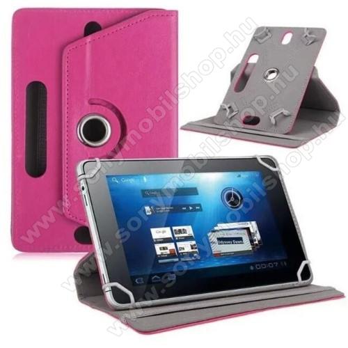 SONY Xperia Z3 Tablet Compact (SGP621)UNIVERZÁLIS notesz / mappa tok - álló, oldalra nyíló, asztali tartó funkcióval, 360°-ban elforgatható - MAGENTA - 8-9