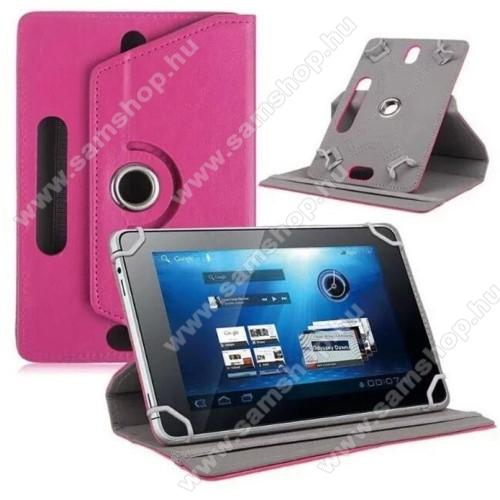 SAMSUNG P6800 Galaxy Tab 7.7UNIVERZÁLIS notesz / mappa tok - álló, oldalra nyíló, asztali tartó funkcióval, 360°-ban elforgatható - MAGENTA - 8-9
