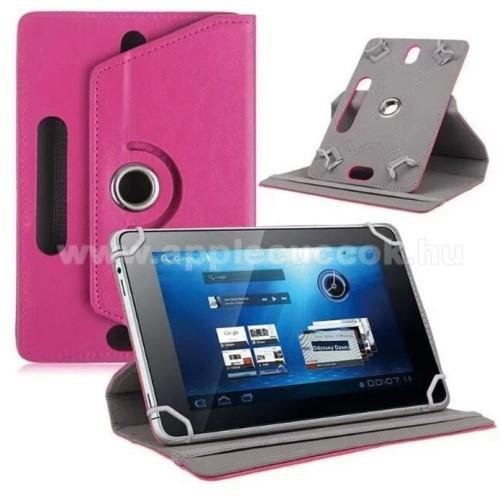 APPLE iPad mini 3UNIVERZÁLIS notesz / mappa tok - álló, oldalra nyíló, asztali tartó funkcióval, 360°-ban elforgatható - MAGENTA - 8-9