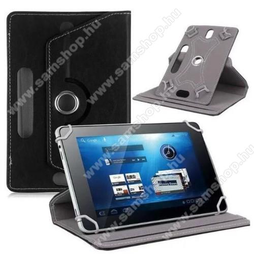 SAMSUNG Galaxy Note 8.0 (GT-N5100)UNIVERZÁLIS notesz / mappa tok - álló, oldalra nyíló, asztali tartó funkcióval, 360°-ban elforgatható - FEKETE - 8-9