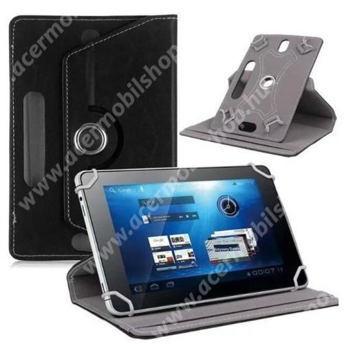 """ACER Iconia Tab A1-811 UNIVERZÁLIS notesz / mappa tok - álló, oldalra nyíló, asztali tartó funkcióval, 360°-ban elforgatható - FEKETE - 8-9"""" méretű készülékekhez, 22-24cm x 15-16,5cm-ig"""