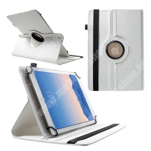 """ACER Iconia Tab A3 UNIVERZÁLIS notesz / mappa tok - álló, oldalra nyíló, asztali tartó funkcióval, 360°-ban elforgatható - FEHÉR  - 9-10"""" méretű készülékekhez, 24-26cm x 16-18,5cm-ig"""