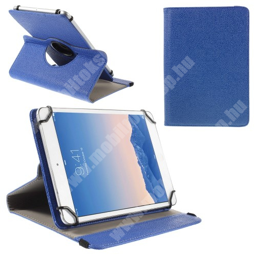 """ASUS Zenpad 10 (Z301MFL) UNIVERZÁLIS notesz / mappa tok - álló, oldalra nyíló, asztali tartó funkcióval, 360°-ban elforgatható - SÖTÉTKÉK - 9-10"""" méretű készülékekhez, 24-26cm x 16-18,5cm-ig"""
