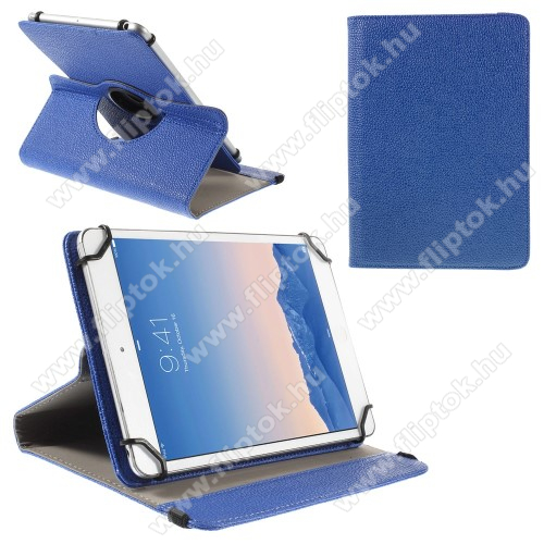 LG G Pad 5 10.1UNIVERZÁLIS notesz / mappa tok - álló, oldalra nyíló, asztali tartó funkcióval, 360°-ban elforgatható - SÖTÉTKÉK - 9-10